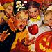 1950's Charles Dye Halloween Calendar Top