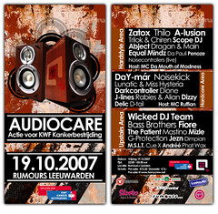 Audiocare 2007 (stefanoost) Tags: print flyer events event care audio 2007 actie rumours kwf discotheek kankerbestrijding hornycrew audiocare
