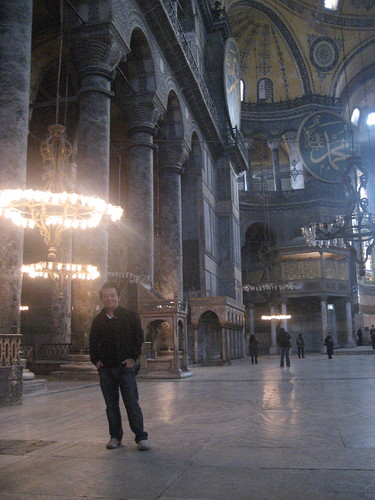 I look like a hobbit inside Aya Sofya