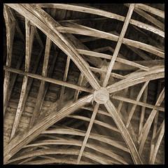 roof timbers (Philip Watson) Tags: wood church greenman stmarys eastdevon blackdownhills luppitt wagonroof