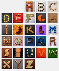 Edible Alphabet (Don Moyer) Tags: typography type characters cracker alphabet moyer edible donmoyer