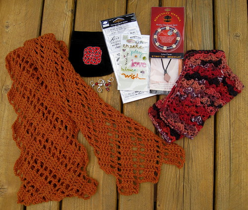 Twilight knitty swap goodies