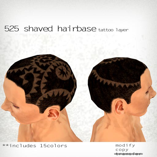 booN 525 shaved hairbase