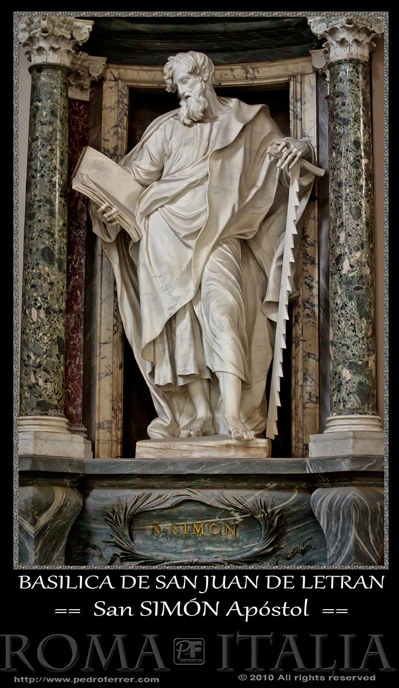 Roma - Basílica de San Juan de Letrán - San Simon Apóstol