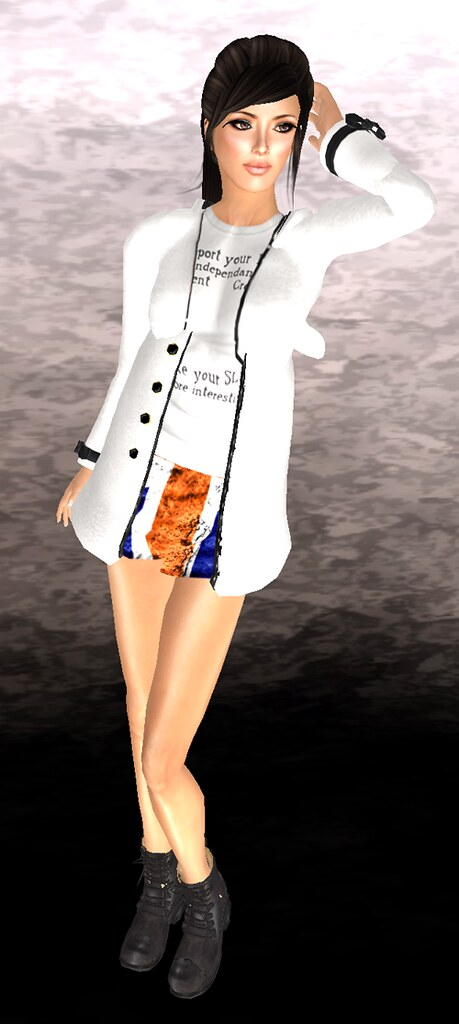 "!1mm*** hoodie coat LB + *RibboN*Highwaist union jack skirt + ""LoQ Hairs"" Aysha **GROUP GIFT**"