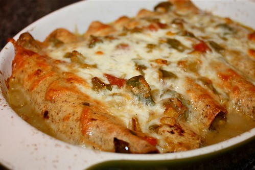 Quickie Meatless Enchiladas