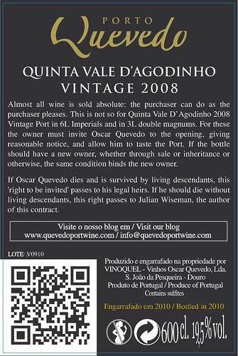Quinta Vale d'Agodinho Vintage 2008 6L