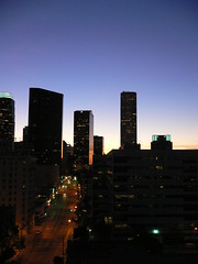 Downtown Los Angeles by Night (my_soladio) Tags: california night hotel la losangeles downtown view