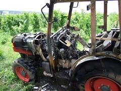 Traktorbrand Weinberge - 05.07.07