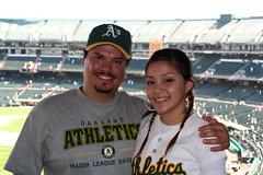 IMG_3302 (Monica's Dad) Tags: john oakland athletics thea baseball stadium fans as
