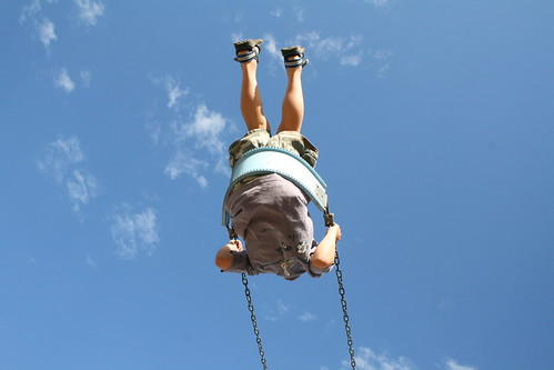 Adam swinging from below