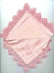 puntina per fazzoletto rosa