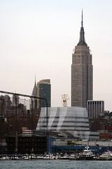 nyc skyline (Nano_Fernandez) Tags: new york frank chelsea state piers gehry empire chrysler buildin