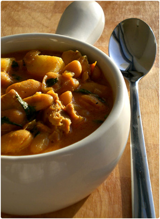 Chicken & Bean Coconut Stew