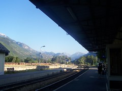 Montdauphin Guillestre railway station in the morning