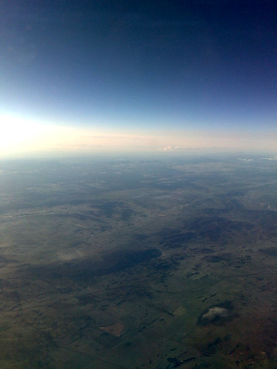 somewhere between Melbourne and Sydney