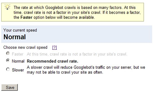 Google Webmaster Tools: Change Your Crawl Rate