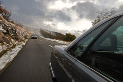 Audi 100 Turbo Quattro @ Route des Crtes (Robin Bien) Tags: france robin car digital photography mercedes nikon 300d 124 turbo vosges quattro routedescretes 18135 audi100 d80