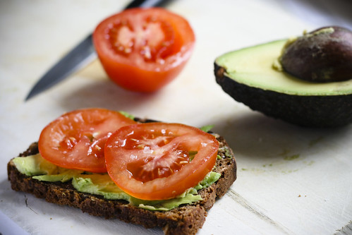 Tomato and Avocado on Rye