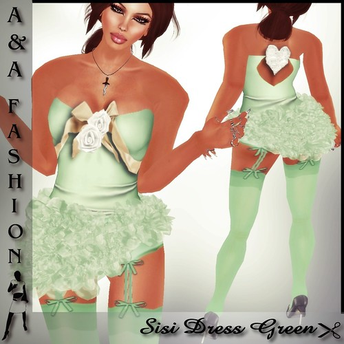 A&A Fashion Sisi Dress Green