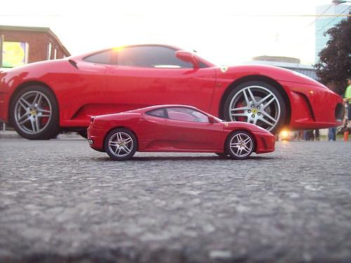 Ferrari F430's, big and small.