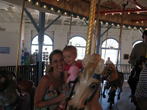 flying around on the carousel