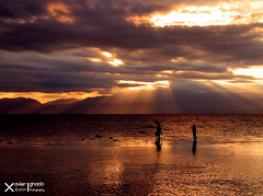Father and Son at Moalboal (Xave Ignacio) Tags: travel sunset seascape landscape kim cebu godlight moalboal xave