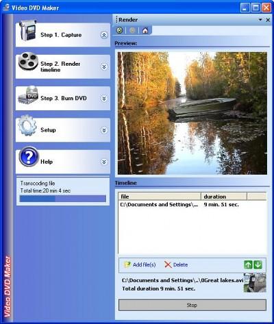 Программы для записи DVD: Video DVD Maker Free