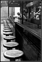 No lo vieron a Molina que no pisa ms el bar? (zaqi) Tags: trip travel blackandwhite bw holiday blancoynegro bar uruguay noiretblanc cook bn montevideo biancoenero zaqi mercadodelpuerto aplusphoto szaqii