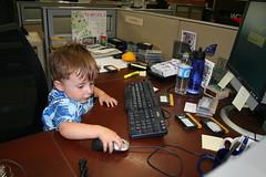 Seth At Work (Jason DeRusha) Tags: work seth downtown minneapolis wcco downtownminneapolis wccotv