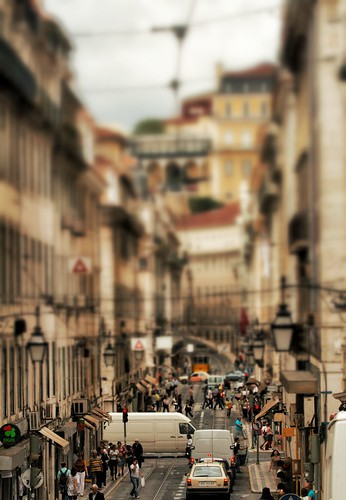 Lisbon Multi-layered Street Scene