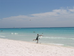 Destin Florida 2007 - Man Catching Bait Fish