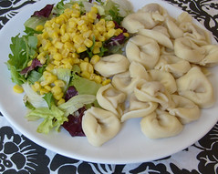 Dinner for one.. (ingridesign) Tags: dinner salad corn plate pasta