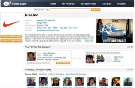 Yahoo! Kickstart (via CNET)