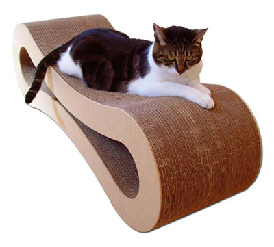 Corrugated cardboard cat lounger by Marmalade Pet