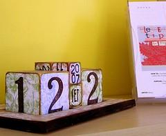 Calendario con i cubi