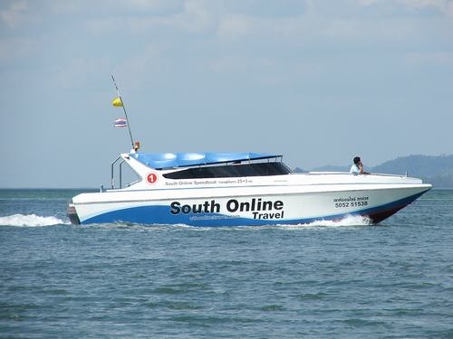 Transfer by speed boat