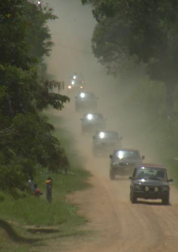Kabila's motorcade arrives