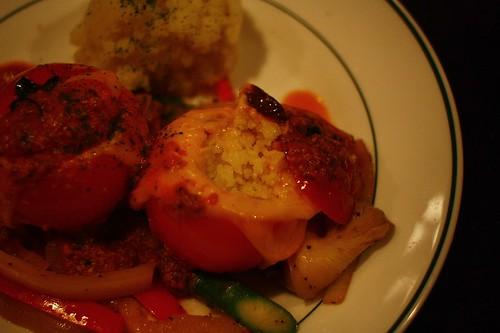 炭烤填充蕃茄與北非小米Cous cous