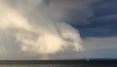 Stormy Weather... (Winglet Photography) Tags: sunset cloud lake storm wisconsin clouds dusk thunderstorm thunder oshkosh stockphoto lakewinnebago winnebagocounty georgewidener georgerwidener