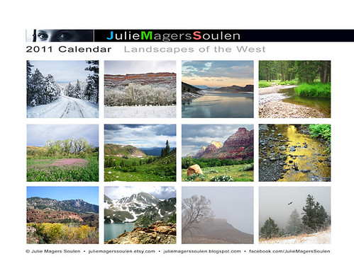2011 Calendar Landscapes of the West Back