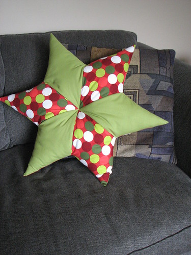 Large Christmas Star Pillow