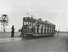 Last run, Rockdale to Brighton-Le-Sands 1949 (State Records NSW) Tags: people blackandwhite sydney archives newsouthwales trams rockdale brightonlesands staterecordsnsw