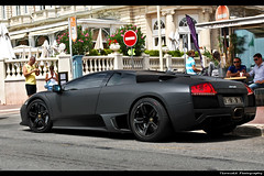 Lamborghini Murcilago LP640 (ThomvdN) Tags: summer black france photoshop nikon cannes automotive thom 1855 lamborghini 2009 vr matte murcilago lightroom carphotography d60 cs3 lp640 thomvdn