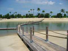 The bridge to paradise Santoas Beach in Singapore