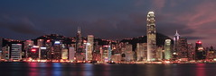 Hong Kong Skyline (* andrew) Tags: sunset panorama building slr tower night digital canon hongkong eos 350d magic tripod dslr  ifc 1740mm victoriaharbour   boctower shieldofexcellence anawesomeshot