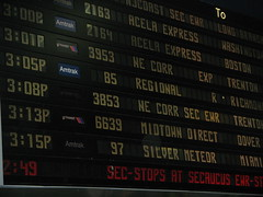 departures board, penn station