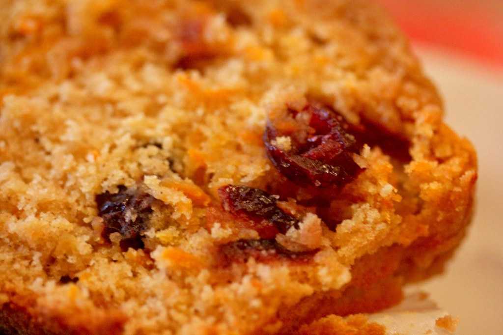 Innards/Close Up of Sweet Potato Cranberry Muffin