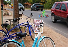 Corrales Road (nicholsphotos) Tags: newmexico cars bikes frog corrales bikeshop nicholsphotos albuquerquewomensflickrmeet
