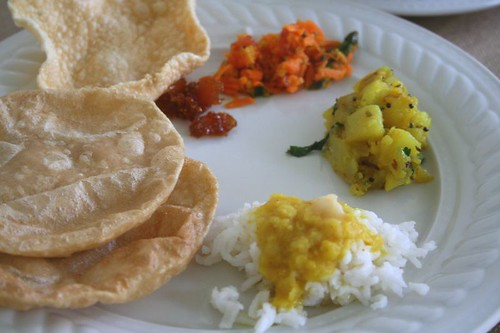 Poori thali